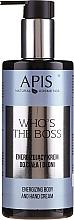 Voňavky, Parfémy, kozmetika Energizujúci krém na telo a ruky - Apis Who's The Boss Energizing Body And Hand Cream