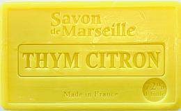 """Voňavky, Parfémy, kozmetika Mydlo """"Kmín citrón"""" - Le Chatelard 1802 Savon de Marseille Thyme-Lemon Soap"""