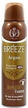 Voňavky, Parfémy, kozmetika Breeze Deo Spray Argan - Dezodorant na telo
