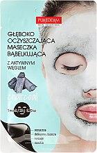Voňavky, Parfémy, kozmetika Hlboká čistiaca kyslíková tvárová maska - Purederm Deep Purifying Black O2 Bubble Mask Charcoal