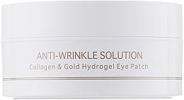Voňavky, Parfémy, kozmetika Hydrogélové náplasti pod oči s kolagénom a koloidným zlatom, štandardná veľkosť - BeauuGreen Collagen & Gold Hydrogel Eye Patch