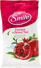"""Voňavky, Parfémy, kozmetika Vlhčené obrúsky """"Granátové jablko a biely čaj"""", 15ks - Smile Ukraine"""