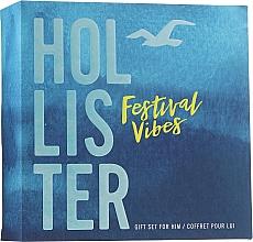 Voňavky, Parfémy, kozmetika Hollister Festival Vibes For Him - Sada (edt/50ml + h/b/wash/100ml)