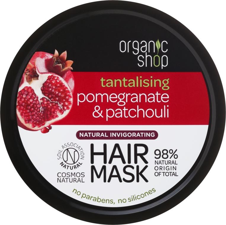 """Maska na vlasy """"Granátové jablko a pačuli"""" - Organic Shop Mask Pomegranate and Patchouli"""