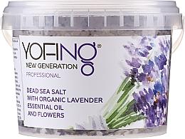Voňavky, Parfémy, kozmetika Soľ do kúpeľa z Mŕtveho mora s organickou levanduľou - Yofing Dead Sea Salt With Organic Lavender Essensial Oil And Flowers