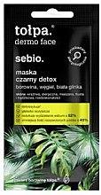 Voňavky, Parfémy, kozmetika Detoxikačná maska na tvár - Tolpa Dermo Face Sebio Black Detox Mask (mini)