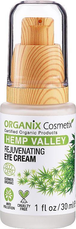 Omladzujúci krém pre pokožku okolo očí - Organix Cosmetix Hemp Valley Rejuvenating Eye Cream — Obrázky N1