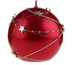 Voňavky, Parfémy, kozmetika Červená dekoratívna sviečka, 10x10cm - Artman Christmas Garland