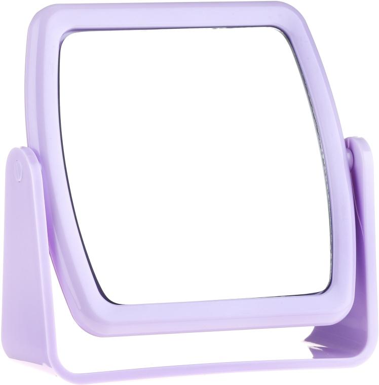 Zrkadlo na stojane 85727, štvorcové, lila - Top Choice Beauty Collection Mirror