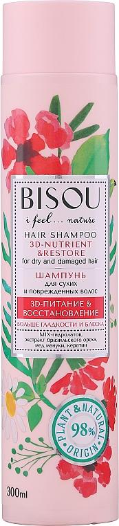 """Šampón na vlasy """"3D-výživa a obnova"""" pre suché vlasy - Bisou Hair Shampoo 3D-Nutrien & Restore"""