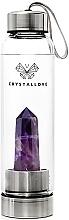 Voňavky, Parfémy, kozmetika Fľaša na vodu s krištáľom ametystu, 550 ml - Crystallove