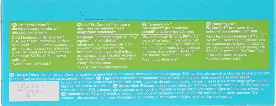 Tampóny, 16 ks - o.b. Pro Comfort Super Plus — Obrázky N2