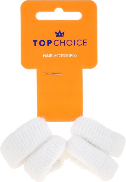 Gumičky na vlasy 4 ks, biele - Top Choice — Obrázky N1