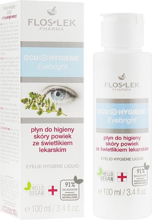 Hygienický fluid na viečka s bylinným extraktom do očí - Floslek Eyebright Eyelid Hygiene Liquid