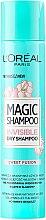 Voňavky, Parfémy, kozmetika Suchý šampón na vlasy - L'Oreal Paris Magic Shampoo Invisible Dry Shampoo Sweet Fusion