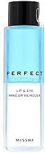 Voňavky, Parfémy, kozmetika Odličovač - Missha Perfect Lip & Eye Make-Up Remover