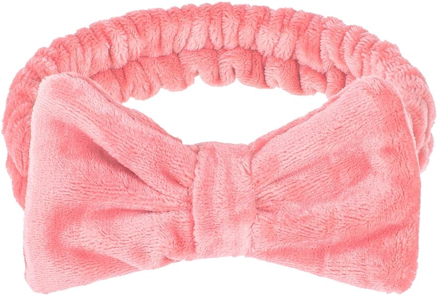 """Kozmetická čelenka na vlasy, koralová """"Wow Bow"""" - Makeup Coral Hair Band"""