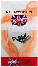 Voňavky, Parfémy, kozmetika Reťaz na ozdobenie nechtov, 00377, zlato-čierna - Ronney Professional