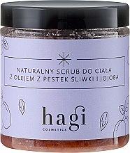 Voňavky, Parfémy, kozmetika Prírodný peeling s olejom zo slivky a jojoby - Hagi Scrub