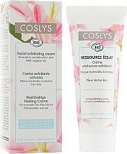 Voňavky, Parfémy, kozmetika Exfoliačný krém na tvár s extraktom ľalie pre normálnu a kombinovanú pleť - Coslys Facial Care Exfoliating Facial CreamWith Lily Extract