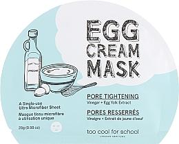 Voňavky, Parfémy, kozmetika Maska s vaječným albumínom - Too Cool For School Egg Cream Mask Pore Tightening