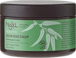 "Voňavky, Parfémy, kozmetika Mydlo halepské ""Čierné"" - Najel Black Aleppo Soap Eucalyptus Body Peeling"