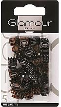 Voňavky, Parfémy, kozmetika Štipce do vlasov, 0222, čierno-hnedé - Glamour