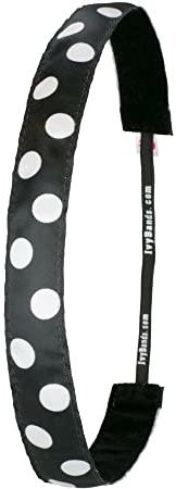 Čelenka, čierna bodkovaná - Ivybands Black/White Dots Hair Band — Obrázky N1
