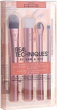Voňavky, Parfémy, kozmetika Sada štetcov na prípravu a nanášanie podkladu, ružové zlato - Real Techniques by Sam and Nic Prep + Prime Set