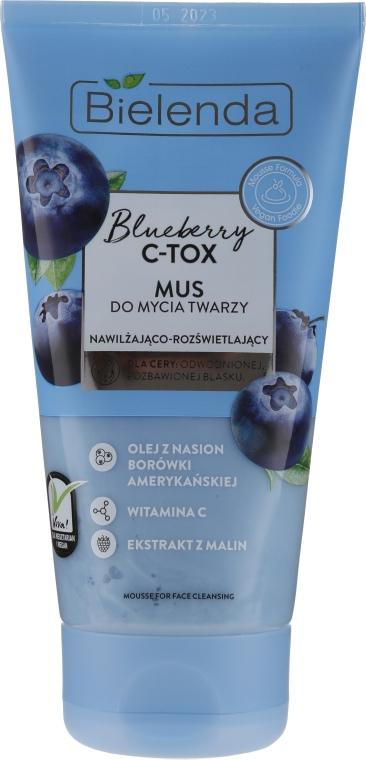 Pena na čistenie tváre - Bielenda Blueberry C-Tox Face Mousse For Face Cleansing