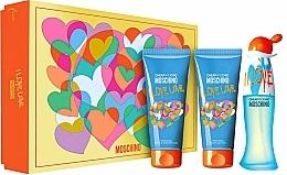 Voňavky, Parfémy, kozmetika Moschino I Love Love - Sada (edt/50ml + b/lot/100ml + sh/gel/100ml)