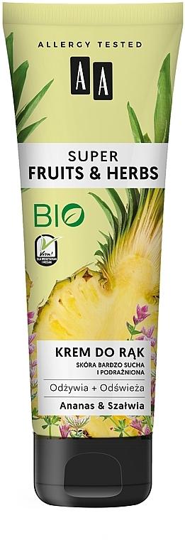 "Krém na ruky ""Ananás a šalvia"" - AA Super Fruits & Herbs"