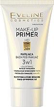 Voňavky, Parfémy, kozmetika Matný základ pod make-up - Eveline Cosmetics Make-up Primer 3v1