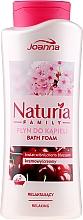 Voňavky, Parfémy, kozmetika Pena do kúpeľa - Joanna Naturia Family Bath Foam Cherry Blossom