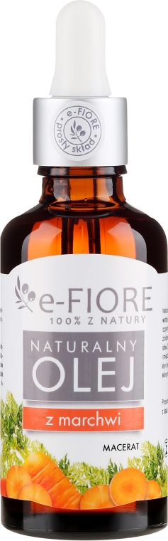 """Mrkvový olej """"Prírodné samoopaľovanie"""" - E-Fiore Carrot Macerate Natural Oil"""