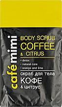 """Voňavky, Parfémy, kozmetika Telový scrub """"Káva a citrus"""" - Cafe Mimi Body Scub Coffee & Citrus"""