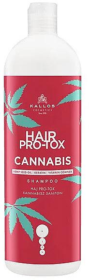 Šampón na vlasy s konopným olejom - Kallos Pro-tox Cannabis Shampoo