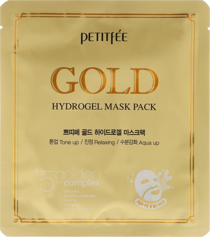 Hydrogélová tvárová maska so zlatým komplexom +5 - Petitfee&Koelf Gold Hydrogel Mask Pack +5 Golden Complex