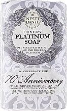 "Voňavky, Parfémy, kozmetika Mydlo ""Platinum"" - Nesti Dante Luxury Platinum Soap 70th Anniversary"