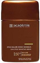 Voňavky, Parfémy, kozmetika Ochranná ceruzka pre citlivé oblasti - Academie Sun Stick Sensitive Areas SPF 50+
