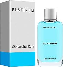 Voňavky, Parfémy, kozmetika Christopher Dark Platinum - Toaletná voda
