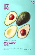 Voňavky, Parfémy, kozmetika Zmäkčujúca maska na tvár s extraktom z avokáda - Holika Holika Pure Essence Mask Sheet Avocado