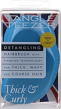Voňavky, Parfémy, kozmetika Kefa pre husté a vlnité vlasy, modrá - Tangle Teezer Thick & Curly Azure Blue