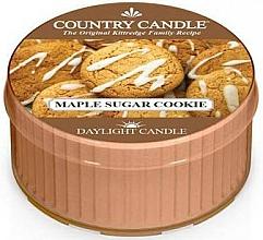 """Voňavky, Parfémy, kozmetika Čajová sviečka """"Javorové cukrové sušienky"""" - Country Candle Maple Sugar Cookie Daylight"""