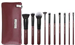 Voňavky, Parfémy, kozmetika Sada štetcov na líčenie s kozmetickou taštičkou, T259 + CB004, 10 ks - Jessup