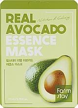 Voňavky, Parfémy, kozmetika Látková maska na tvár s extraktom z avokáda - FarmStay Real Avocado Essence Mask