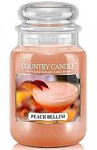 Voňavky, Parfémy, kozmetika Vonná sviečka v tube - Country Candle Peach Bellini
