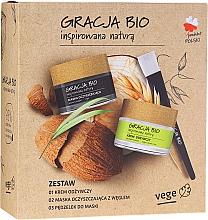 Voňavky, Parfémy, kozmetika Sada - Gracja Bio Inspired Nature (cr/50ml + mask/50ml + brush/1)