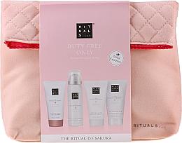 Voňavky, Parfémy, kozmetika Sada - The Ritual of Sakura Renewing Treat (b/cr/70ml + sh/g/50ml + shampoo/70ml + b/scrub/70ml + bag)