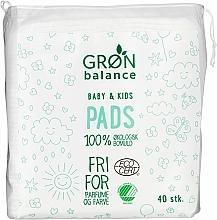 Voňavky, Parfémy, kozmetika Detské vatové tampóny, 40 ks - Gron Balance Baby & Kids Pads